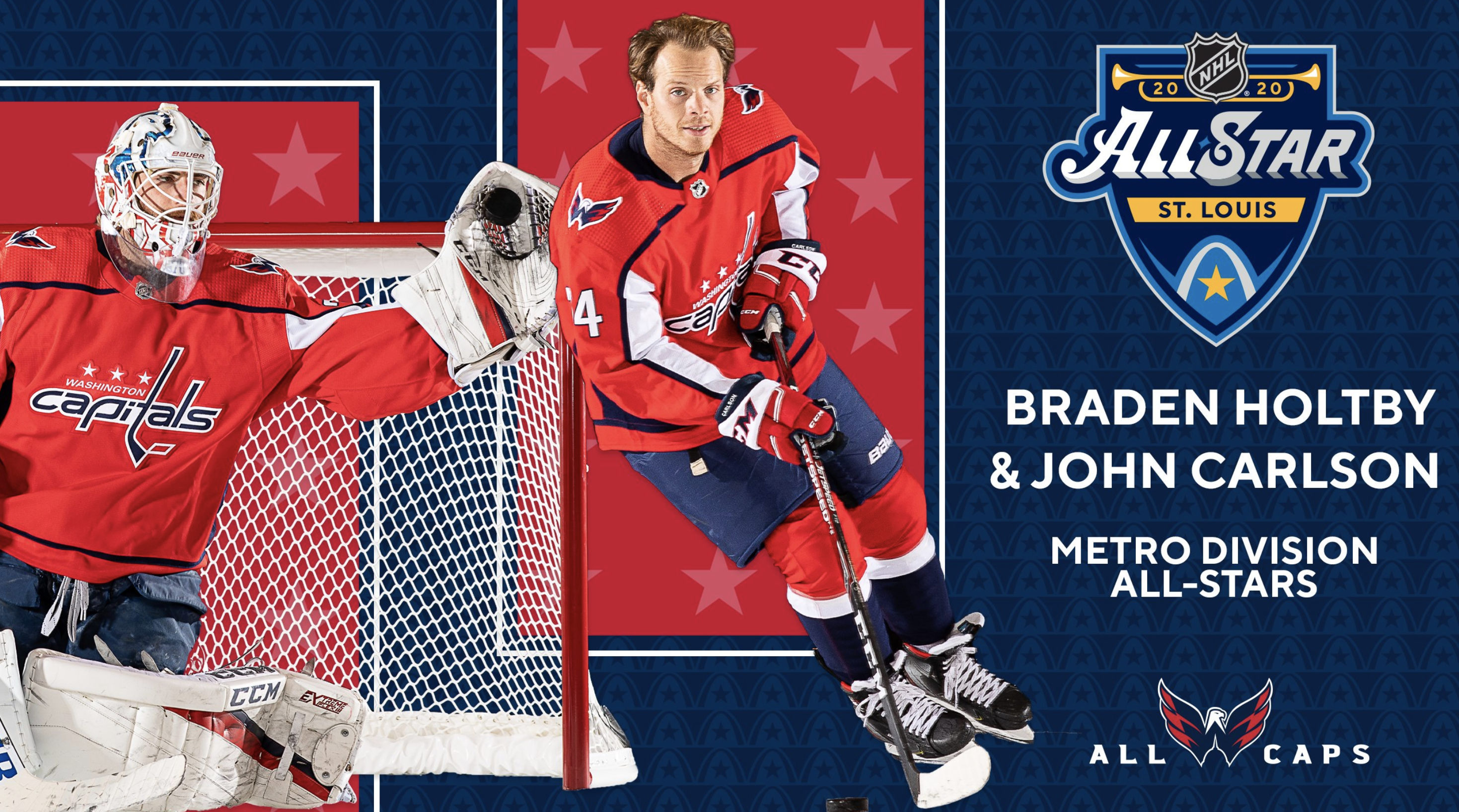 Capitals John Carlson And Braden Holtby Selected For 2020 Nhl All Star Game In St Louis Nova Caps